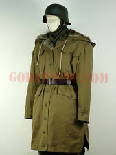 "WWII German Elite M43 Tan Rabbit Fur-lined ""Kharkov"" Winter Parka XL"