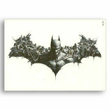 Large Batman Temporary Tattoo Halloween Cosplay Fancy Dress