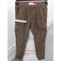 ABERCROMBIE & FITCH MENS CARGO JOGGER CHINOS PANTS BROWN SIZE LARGE A&F