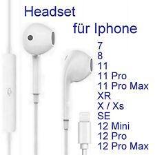 Kopfhörer für iPhone 7 8 X 11 11pr 12 mini XR Lightning Headset Bluetooth EarPod