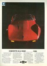 1975 Chevrolet CORVETTE Original ADVERTISMENT Vette FREE SHIP Red Convertable