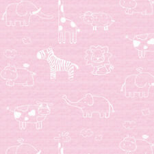 Pink Wallpaper Animal Pattern Wall Covering Vinyl Contact Paper Kids Room Ideas