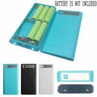 2 USB Ports 8x 18650 Portable DIY Battery Holder LCD Display Power Bank Box Case