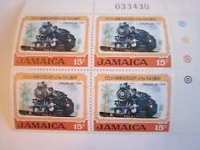 LOT OF 9 JAMAICA STAMP BLOCKS - MINT CONDITION IN BOOKLET - OFC-2