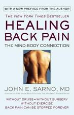 Healing Back Pain The Mind Body Connection Paperback John E. Sarno FREE SHIPPING