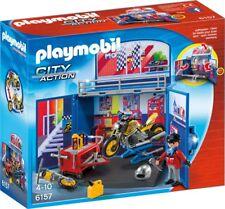 Playmobil 6157 City Action My Secret Motorcycle Workshop Play Box