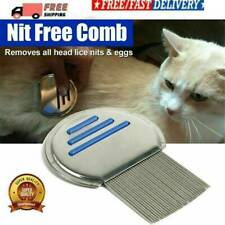 UK Metal Fine Nit Hair Comb With Handle Removed Head Lice And Egg Effectively