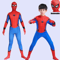 Kids 2017 Spider-Man Homecoming Super Hero Halloween Cosplay Costume Outfit Suit