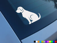 LABRADOR CAR STICKER DECAL BUMPER WINDOW VINYL FUNNY LAPTOP NOVELTY VAN