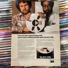 3M SCOTCH 226 Recording Reel Tape, Ampex 456 (1981) Robert Frip [Magazine AD]