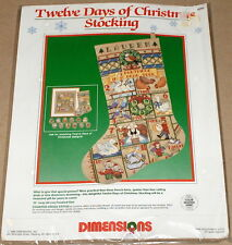 """CMPLTE XSTITCH MATERIALS /""""THREE FRENCH HENS NC143/"""" 12 Days of Christmas"""
