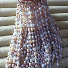 Colorful White Pink Purple Natural Freshwater Pearl Adjustable Bangle Bracelet