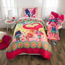 Trolls Full Double Kids Comforter & Sheet Set (5 Piece Bed In A Bag)