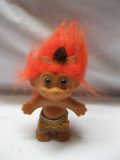 "Russ Troll 3"" Doll Orange Hair Thanksgiving Native American Indian"