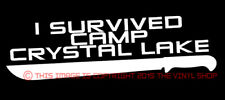 I Survived Camp Crystal Lake Jason Voorhees Friday The 13th decal sticker Horror