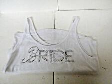 Victoria Secret BRIDE White Tank Large L nwot Bling Rhinestones