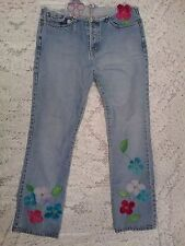 VTG Gap Floral Embroidered Jeans ~ Women's Size? ~ Beautiful Retro Jeans!