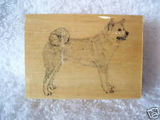 STAMP GALLERY MOUNTED RUBBER STAMP AKITA, NEW