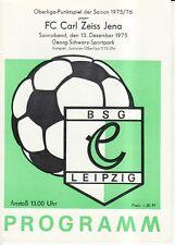 OL 75/76  BSG Chemie Leipzig - FC Carl Zeiss Jena