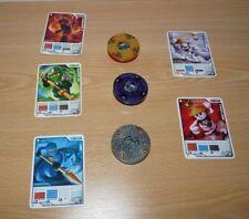 LEGO NINJAGO -  3 toupies et 5 cartes personnages