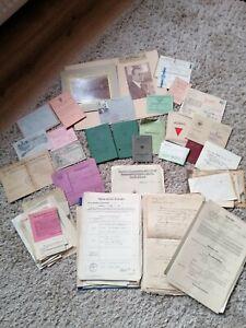 Alte Dokumente Fotos Papiere Antik Konvolut Nachlaß Konvolut Ausweise
