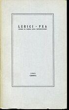 LERICI PEA 1982 Mario Bon Sergio Wax Anselmo Bea Gualtiero Fucigna