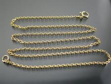 Antico 9ct GOLD Sfaccettato Belcher Link collana catena 17 pollici c.1910
