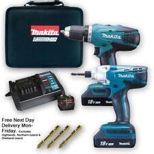 Makita 18v Cordless Li-ion Combi Hammer Drill & Impact Driver Twin Pack Set