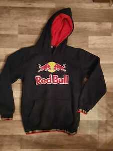 boys boy hoody hoodie top aged 10-11 years black red bull non official