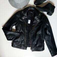 c6b38ba56a NEW NWT The Kooples Biker black Leather Moto Jacket XS, studds