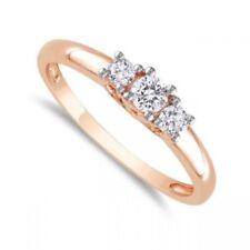 Classy 0.60 Cts F/VS1 Natural Diamonds Three-Stone Ring In Hallmark 18Karat Gold