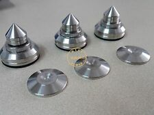 6Pcs Steel Speaker Spikes Spike Cone Stand isolation Base Pad Feet HI END