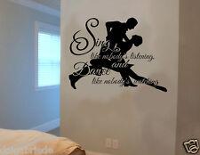 CANTARE COME NESSUNO STA ASCOLTANDO Wall Art Adesivo Vinile Citazione Home Deco fai da te