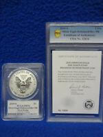 2019 S Enhanced Reverse Proof Silver Eagle PCGS PR70 Whitley Autograph