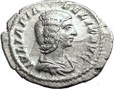 JULIA DOMNA 193AD Rome Authentic Ancient Silver Roman Coin DIANA LUCIFERA i64692