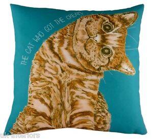 """17"""" DREAM TEAM CAT who got the cream Cushion Evans Lichfield DP682 43cm"""