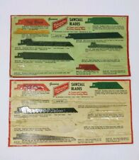Vintage Genuine Milwaukee Sawzall Blades-Blade Cards-2 Cards, 12 Blades, Unused