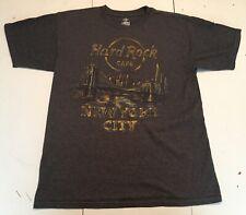 Hard Rock Cafe New York City Limited Edition T Shirt Mens Medium Gray