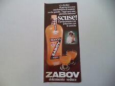 advertising Pubblicità 1976 ZABOV MOCCIA