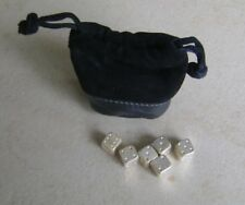 CONCORDE Silver Plated Dice by Links of London in Concorde Pouch & Box