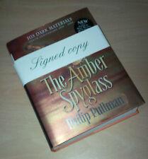 Philip Pullman signed The Amber Spyglass 10th Ann 1st/1st édition cartonnée