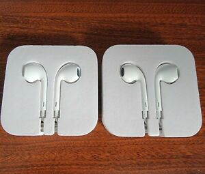 2 pack - Apple Wired Earbuds Headphones from iPod Touch OEM - 3.5mm Jack no mic