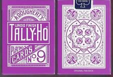 1 DECK Rose Tally Ho Fan Back V1 PURPLE playing cards FREE USA SHIPPING