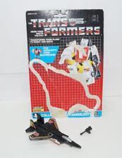 Air Raid WITH CARDBACK Vintage Hasbro 1986 G1 Transformers Action Figure