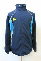 CANTERBURY Men's Navy Yellow Long Sleeve Full Zip Activewear Top Jacket L