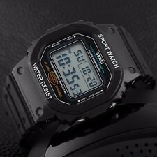 Sports Military Square Water Shock Proof Men's LED Light Chronograph Wrist Watch