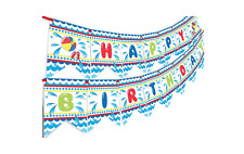 Pool Party Happy Birthday Banner - Pool Party Pennant - Classic