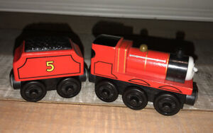Thomas The Train Wooden Railway - JAMES & TENDER lot EUC