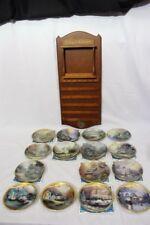 "Thomas Kinkade's Simpler Times Series 6"" Plates +Wood Calender Set + Extras"