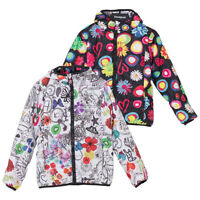 Desigual Girls White Jacket Reversible Lightly Padded Water Repellent 5-6 years